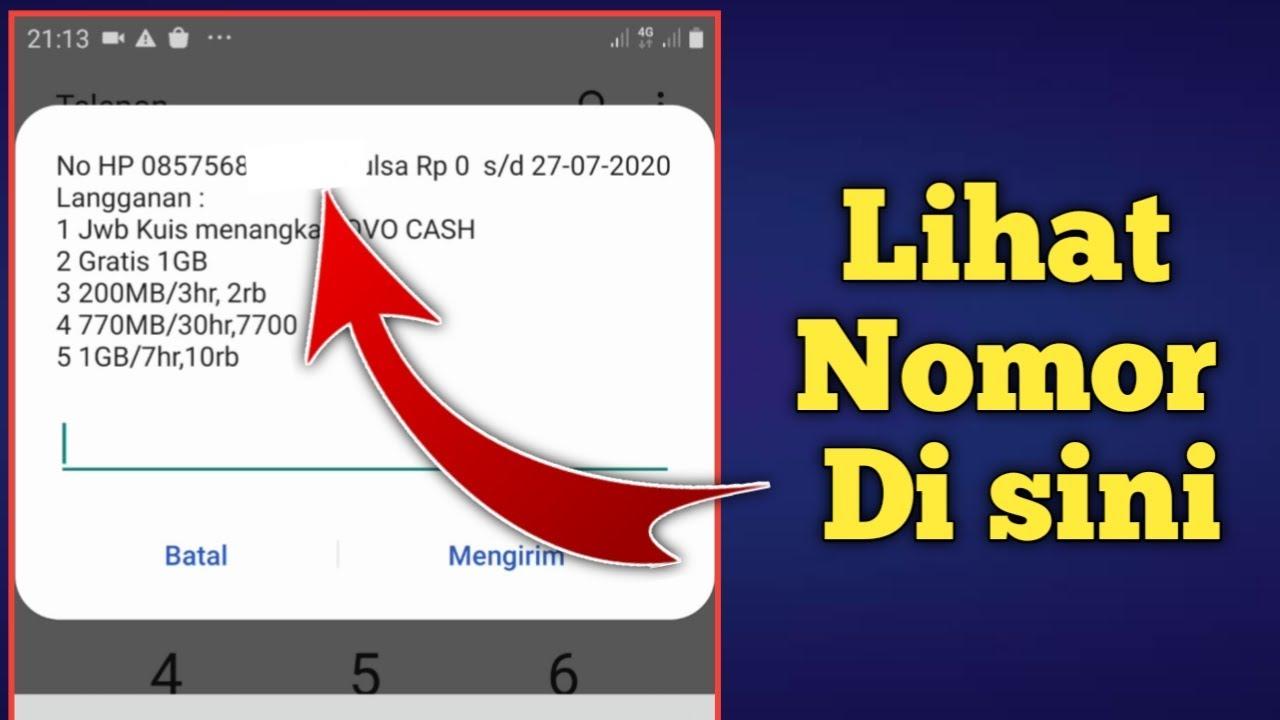 Cara Cek Nomor Indosat - YouTube