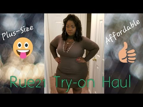 Rue21 Try-on Haul L Plus Size Try-on Haul L Affordable Clothes