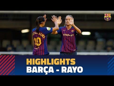 [HIGHLIGHTS] FUTBOL FEM (Liga): FC Barcelona - Rayo (9-1)