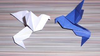 Оригами голубь мира