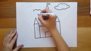 Minik Kale Çizimi / How to Draw a Castle