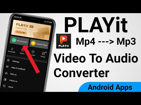 PLAYit App Convert Video to Audio format in phone | Mp4 to Mp3 converter | Mp3 converter playit app