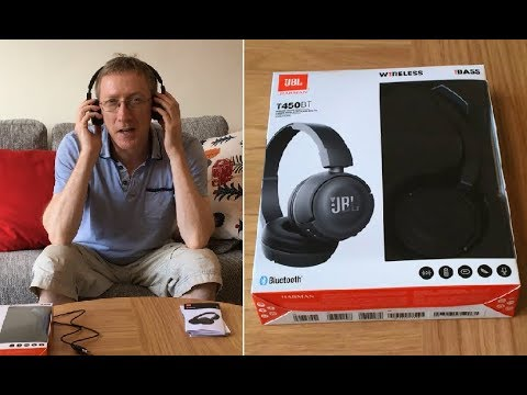JBL T450BT Bluetooth Wireless Headphones Review - How to Connect to  Smartphone, Laptop, TV