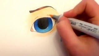 Copic Tutorial: How to Draw and Fill a Basic Eye