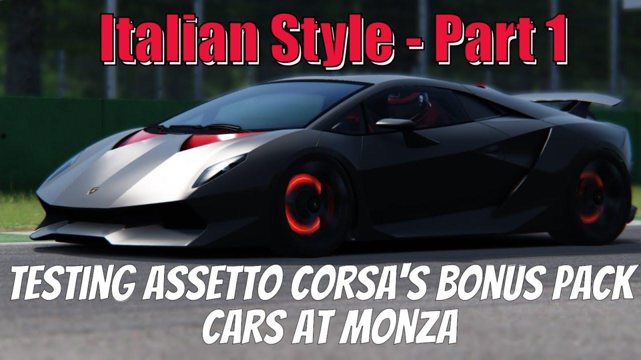 Assetto Corsa Bonus Pack 3 Lamborghini Sesto Elemento And Huracan