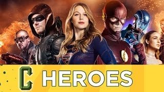 CW-DC-Crossover-Album - Supergirl, Flash, Arrow, Legenden von Morgen - Collider Helden