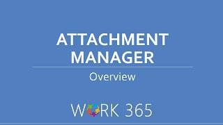How the Attachment Manager works in Dynamics 365 ?