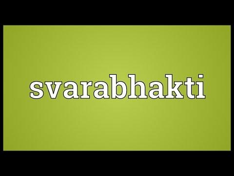 Header of svarabhakti