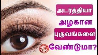 புருவங்கள் அடர்த்தியாக அழகா வேண்டுமா!!! How to Grow Eyebrows Faster and Thicker Naturally