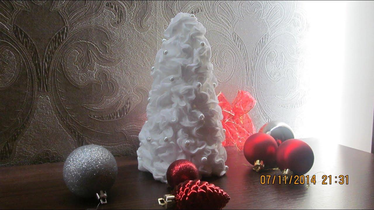 Новогодние поделки своими руками из косметических дисков