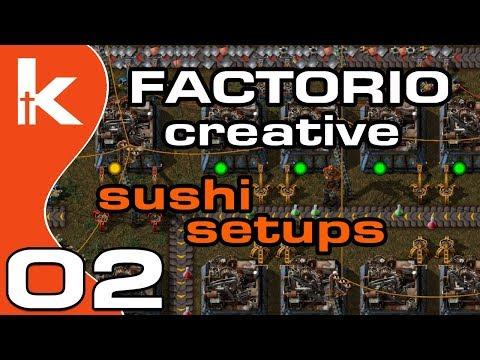 Factorio Sushi Setups | Factorio Creative Ep 2