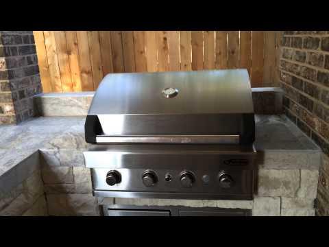 Houston outdoor kitchen and pool area tour
