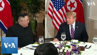 Trump and Kim sit down for dinner at Hanoi hotel