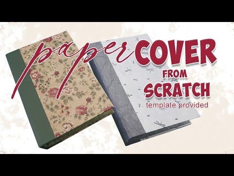 how to make a paper junk journal cover from scratch