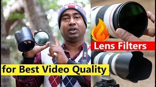 Benefits of Lens Filters ! आग लगा देगी Video Quality में ! With Lens Hood