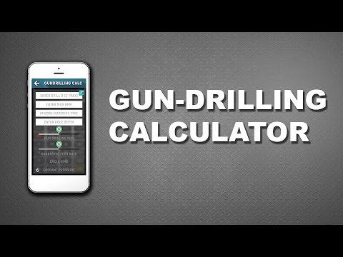 CNC Machinist Calculator - Gundrill speed  feed calculator - YouTube