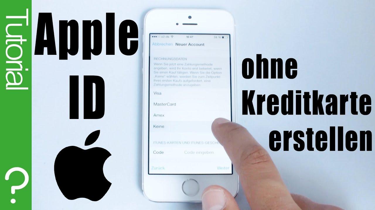 apple id kostenlos ohne kreditkarte erstellen mit ios 8 7 6 5 auf iphone ipad ipod. Black Bedroom Furniture Sets. Home Design Ideas