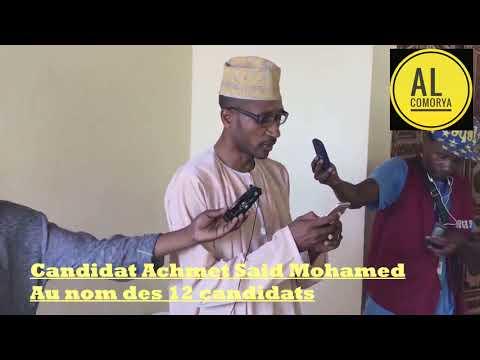 Comores : jour de vote, déclaration commune des 12 candidats sur les fraudes électorales