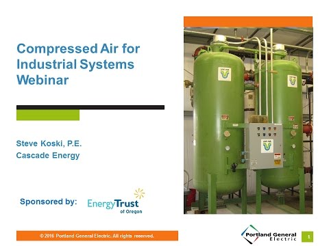 Compressed Air Systems Webinar, Oct. 12, 2016