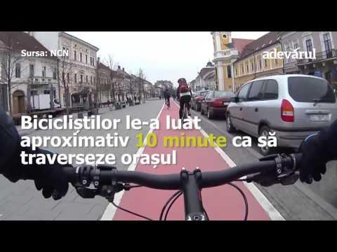 Super experiment la oră de vârf: cum au zburat bicicliştii pe lângă un pilot de raliuri