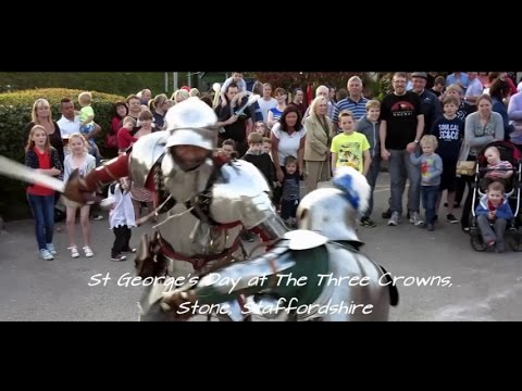 St George's Day at The Three Crowns. Stone, Staffordshire