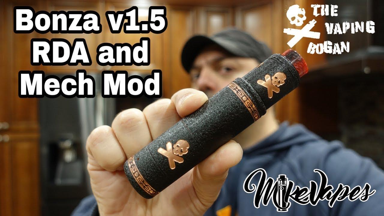 Bonza v1 5 RDA & 21700 Mech Mod By The Vaping Bogan - Build, Wick, &  Breakdown