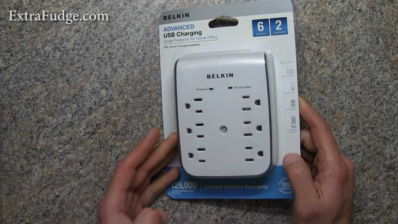 Belkin 6 Outlet Surge Protector With Usb Review Youtube