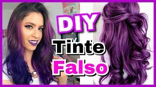DIY | Como hacer TINTE DE CABELLO FALSO en Casa y que parezca REAL | NatyGloss