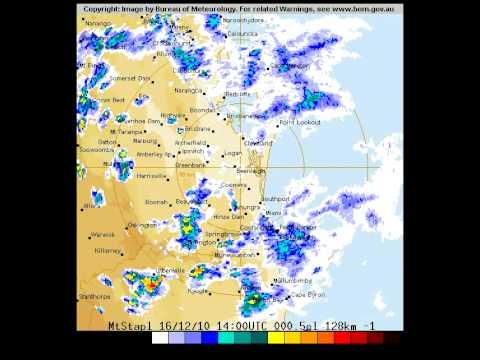 Brisbane Storms 16th December 2010 - 128 Kilometre Radar