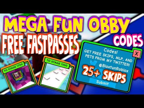 Mega Fun Obby 2 Codes 2020 May