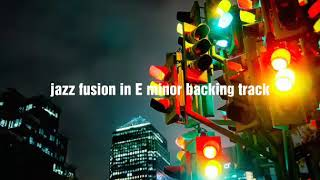 jazz/fusion in E minor backing track no.67 (130 grit)