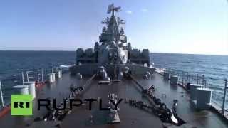 Navio russo da Frota do Mar Negro chega em Latakia para defesa aérea