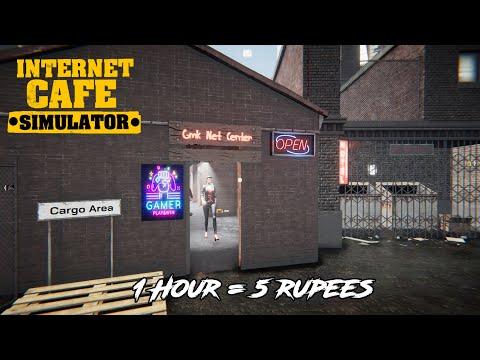 1Hour = 5 Rupees  | Internet Cafe Simulator Game Play In Telugu | GMK GAMER