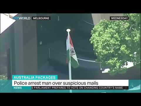 Australian police arrest man for sending suspicious packages