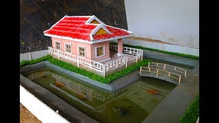 build Mini Fish Pond Around The Most Beautiful Mini Villa House