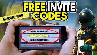 FREE Fortnite Mobile Codes!!! (HURRY TO GET ONE!)