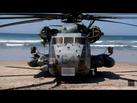 Marine Chopper makes Emergency Landing at Solana Beach - CH-53E Super Stallion