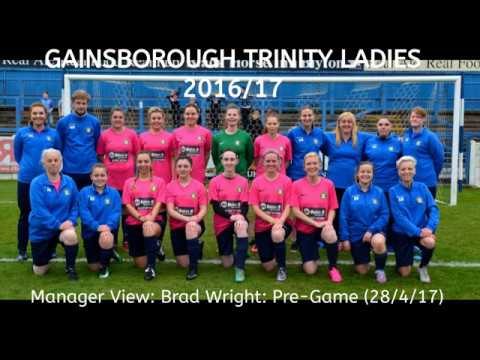 Brad Wright: Gainsborough Trinity Ladies Manager PreMatch 28417