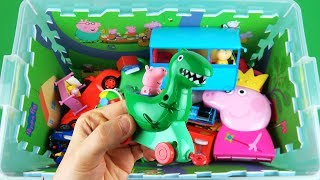 Learn Characters, Vehicles for kids with Princess Holly, Peppa Pig, Percy and many other in toy box