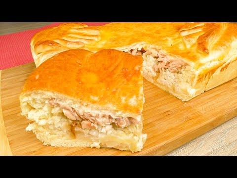 Рыбный пирог из дрожжевого теста. Старинный семейный рецепт |  Yeast Dough Fish Pie