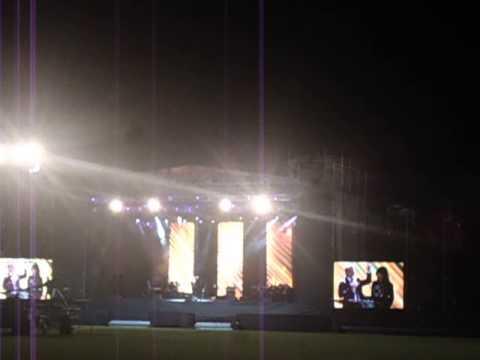Cash Luna en el estadio Newells.. Rosario..