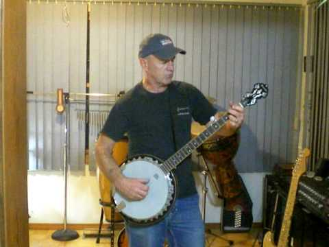 Randy Boyd playing the banjo