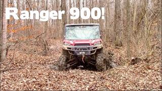 Polaris Ranger XP 900 Mudding & Trail Riding!    SHREDDING!!!