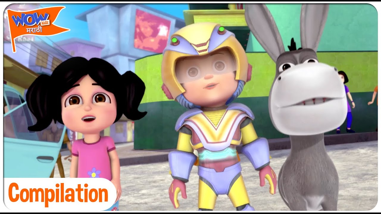 Vir The Robot Boy In Marathi   Compilation 12   Wow Kidz मराठी