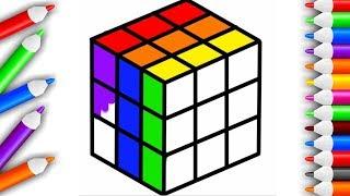 Мультик - Раскраска Кубик Рубика Учим цвета - Развивающие мультфильмы