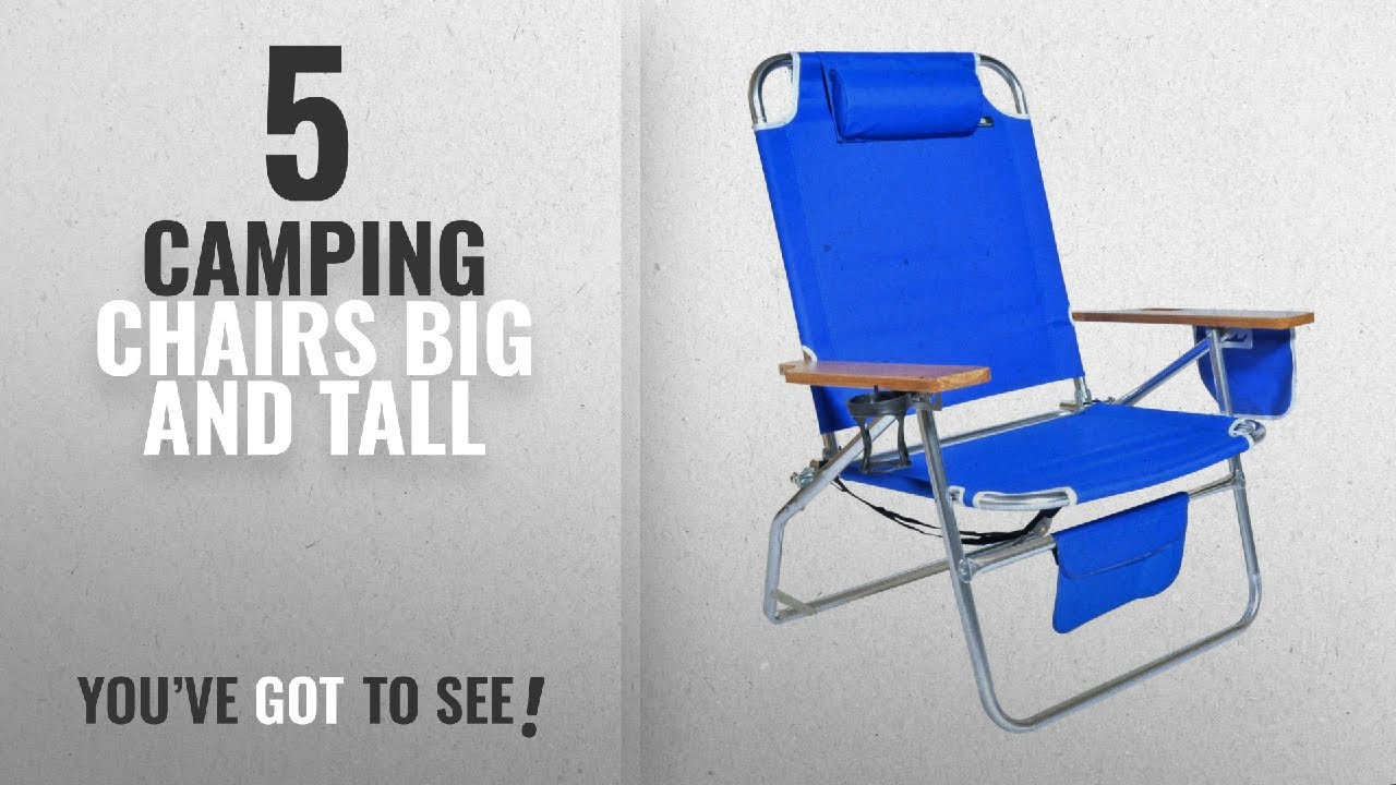 Top 5 Camping Chairs Big And Tall [2018]: Big Jumbo Heavy Duty 500 Lbs XL  Aluminum Beach Chair For