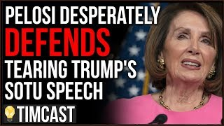 Democrats Quitting Party Clearly Has Pelosi Worried, Defends Ripping SOTU Speech And Blames Media