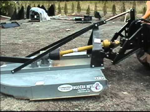Eterra Skid Steer 3 Point Runs A Brush Hog Youtube