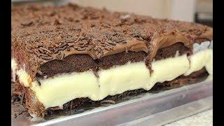 Bolo de Chocolate Gelado e Cremoso