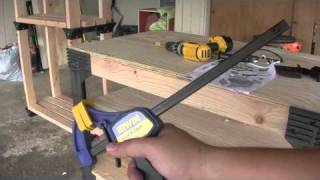 "Dirtereviews: 2x4 Basics Workbench With 16"" Shelf Set"